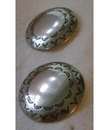 Western Post Earrings Feature Conchos - $10.00