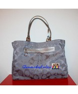 COACH GABBY Signature XL Tote - Grey/Silver