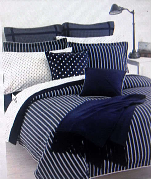 RALPH LAUREN BARRYMORE STRIPE KING DUVET SET 5PC