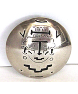 Vintage Sterling Mexico Aztec Brooch Mayan Face... - $39.00