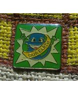 GREEN Our Earth Vintage Pin Tac Lapel Vest Hat ... - $4.00