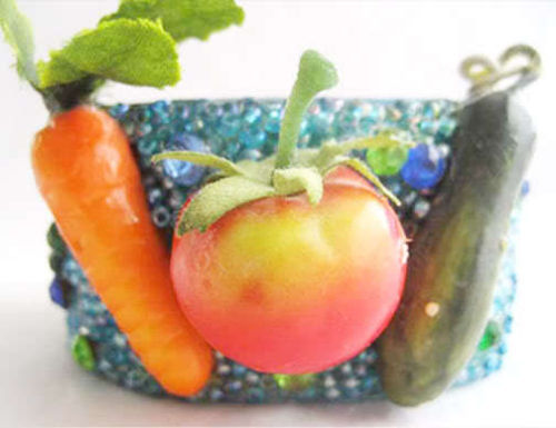 Artisan CARROT Tomato CUCUMBER Vegetable Salad BRACELET