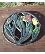 ANTIQUE FLOWERS CAST IRON TRIVET Lot # 149 - $35.00