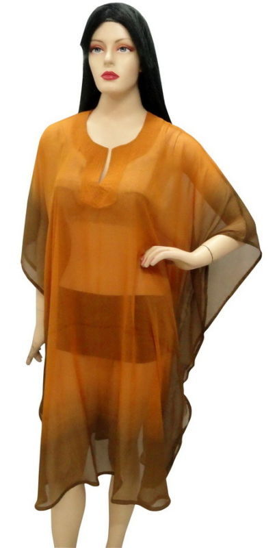 Sexy Sheer Plus Size Beach Cover Up Kaftan Caftan