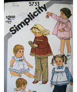Simplicity  5733 Vintage Used Girls 1 Pattern 6... - $5.95