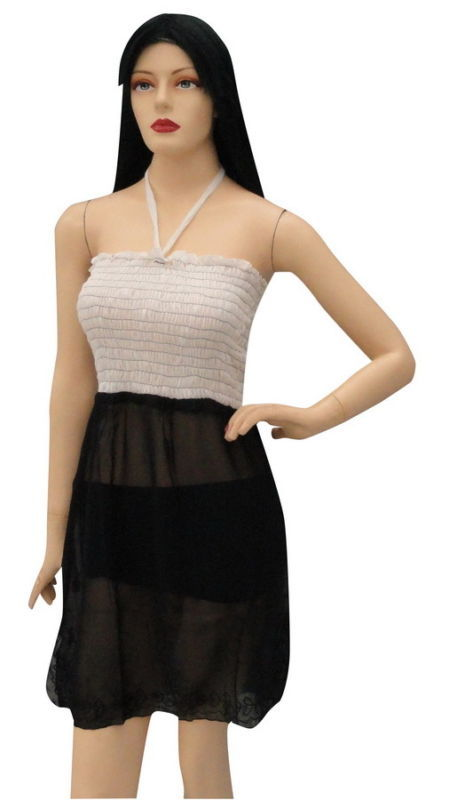 Sexy Sheer Halter Backless Babydoll Tube Dress Tunic