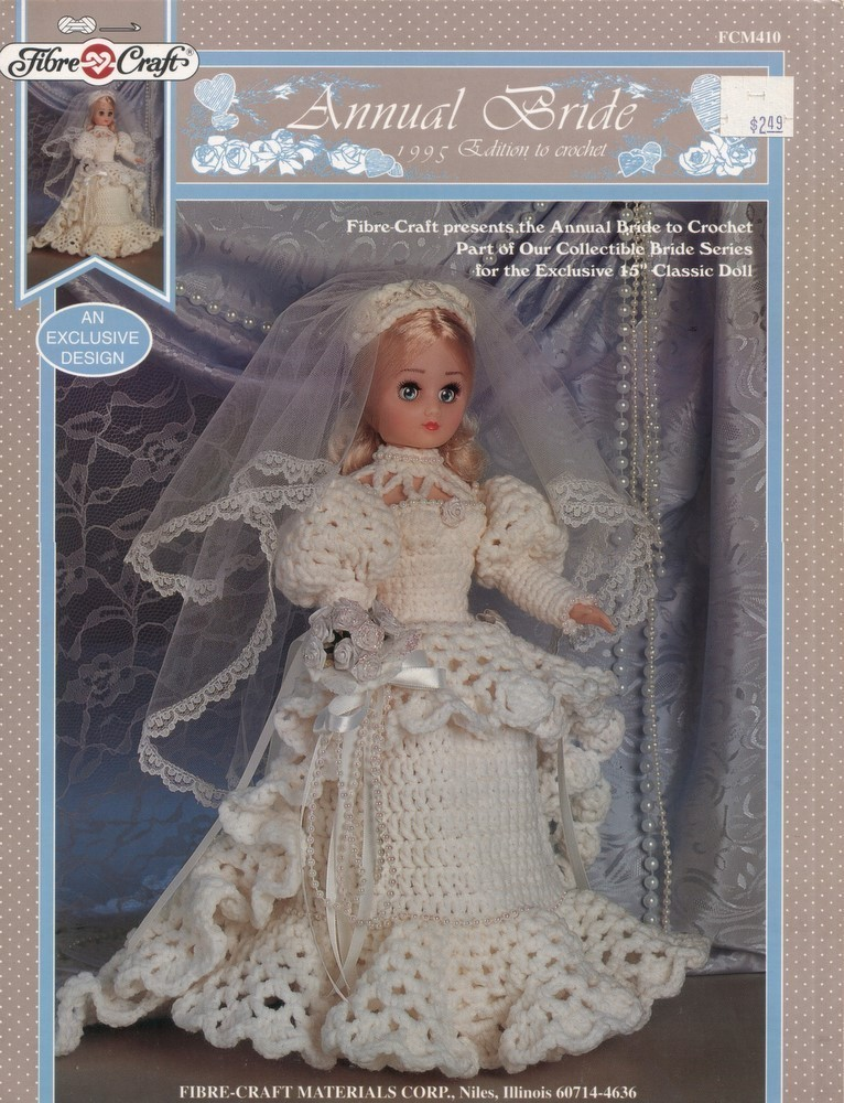 eBay - Crochet Pattern BARBIE BRIDES Wedding Beaded Dress Gown