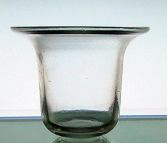 Hanging candle holder cup flat bottom flare 3 x oos for Flat candle holders