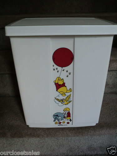 Vintage Sears Disney Winnie the Pooh Sit On Clothes Hamper   1970    Nursery