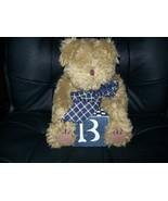 Teddy Bear with Wood Block - $10.00