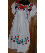 Mexican (?) Ethnic Boho Hippie EMBROIDERED whit... - $64.99