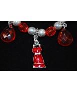 Red Dress Beaded Bracelet - $2.00