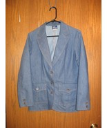 Blue Denim Blazer Ladies' Sz. 10 Koret City Blues  - $25.63