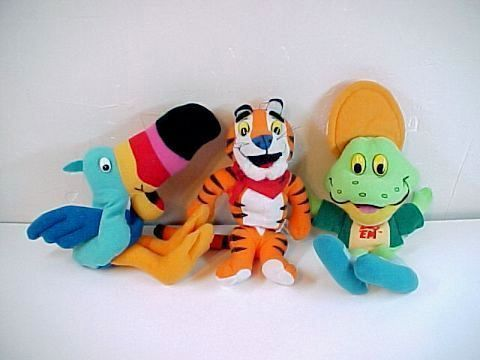 1997 Kellogg's Toucan Sam -Tony the Tiger -Dig Em Bean Bags