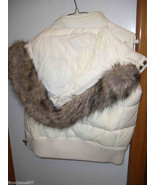 Abercrombie  Fitch Faux Fur Hoodie Down Vest - $47.49