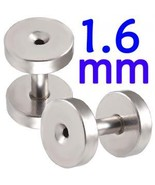 14g~1.6mm Screw Flesh Tunnel Ear Plug 14 Gauge ... - $6.99
