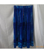 Papa Vancouver Long free-size long blue crinkly... - $12.00