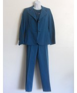 Ellen Tracy Turquoise 3 Piece Blazer Pant Suit... - $35.90