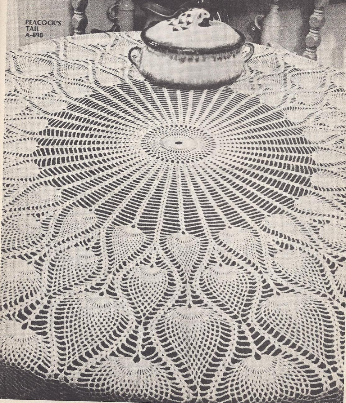 Crochet patterns round tablecloth pakbit for rarevhtfpeacocks tail round tablecloth crochet pattern bankloansurffo Choice Image
