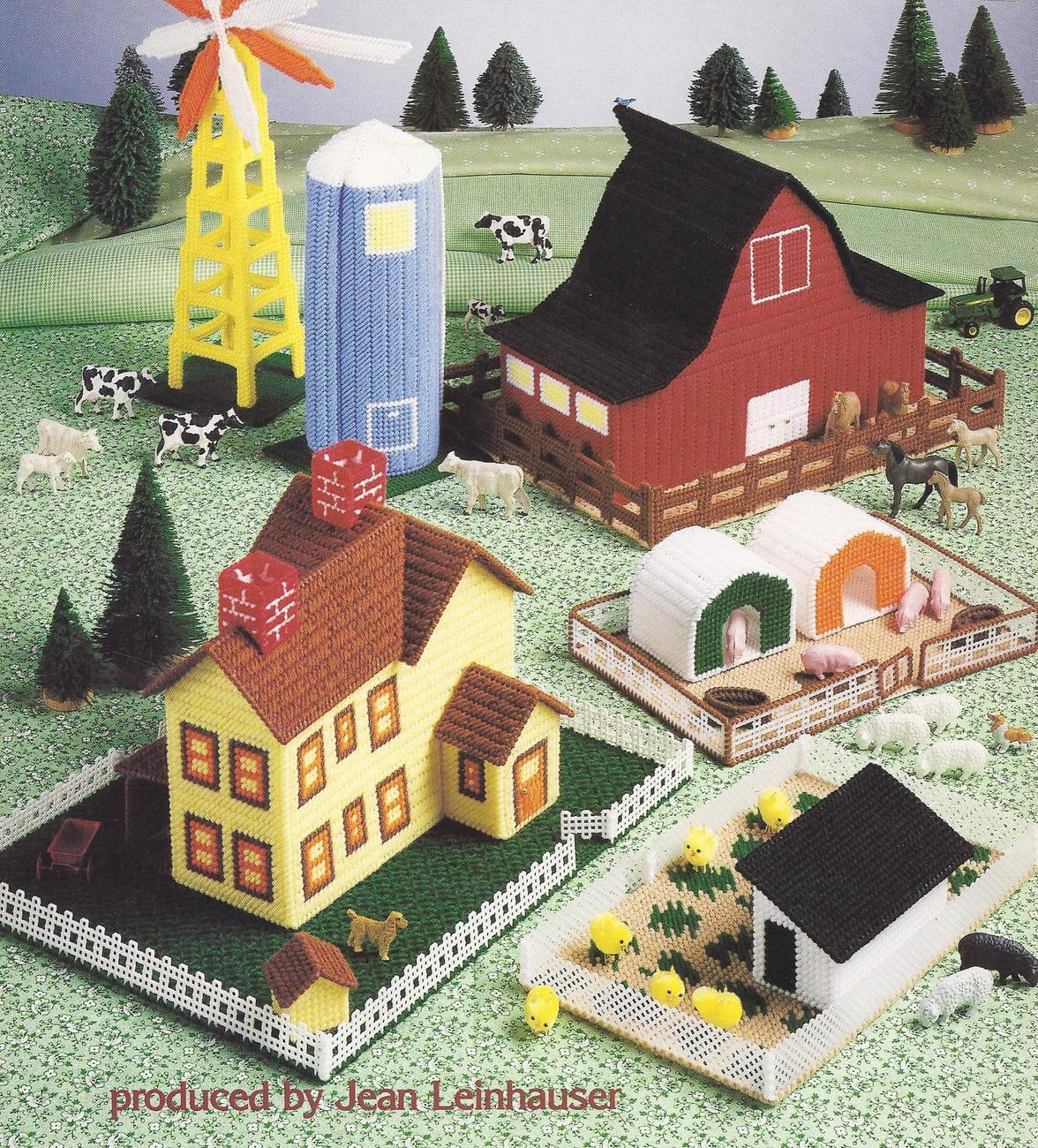 Plastic Canvas Patterns John Deer http://patternsge.net/toy-barn-patterns/