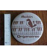 Robbinsdale Robin Organaires Pinback Button 2-1/4