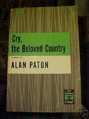 Old Book~Cry The Beloved Country~A Paton~SC~Sribner