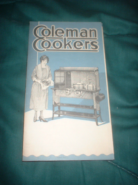 C 1925 COLEMAN COOKER RANGES & STOVES PIC ADV BROCURE