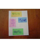 Baby blank Card, Handcrafted scrap happy card - $3.95