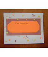 I am Thankful for...blank Card, Handcrafted s... - $3.95