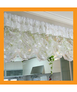 green balloon shade curtain ruffle valance top ... - $26.00