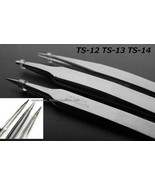 LOTS 3 Piece Precision Tweezers Set TS-12 TS-13... - $2.99