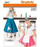 Simplicity 3847 Women Retro 50s Poodle Skirt Co... - $9.95