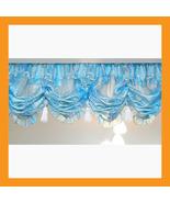 blue stripe balloon shades valances curtains la... - $26.00