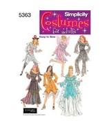 Simplicity 5363 Fantasy Womens Costume Pattern ... - $8.95