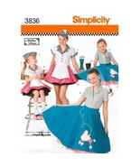 Simplicity 3836 Girls 3 to 6 Retro 50s Poodle S... - $5.95