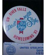 1983UW River Falls WI College Homecoming Pinbac... - $5.99