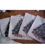 Set of Four (4) 14 Inch Christmas TreeTapestry ... - $2.99