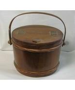 Vintage Wood Sewing Bucket By Enesco - $35.00