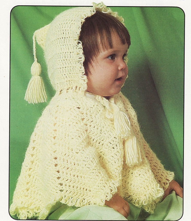 Crochet Pattern For Baby Hooded Poncho : Hooded Poncho Baby Crochet Pattern Infant Sweater Hoodie ...