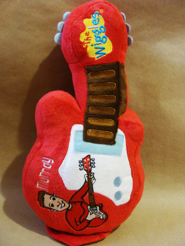 "The Wiggles 14"" Red Murray Guitar Plush Stuffed Toy with Strap"