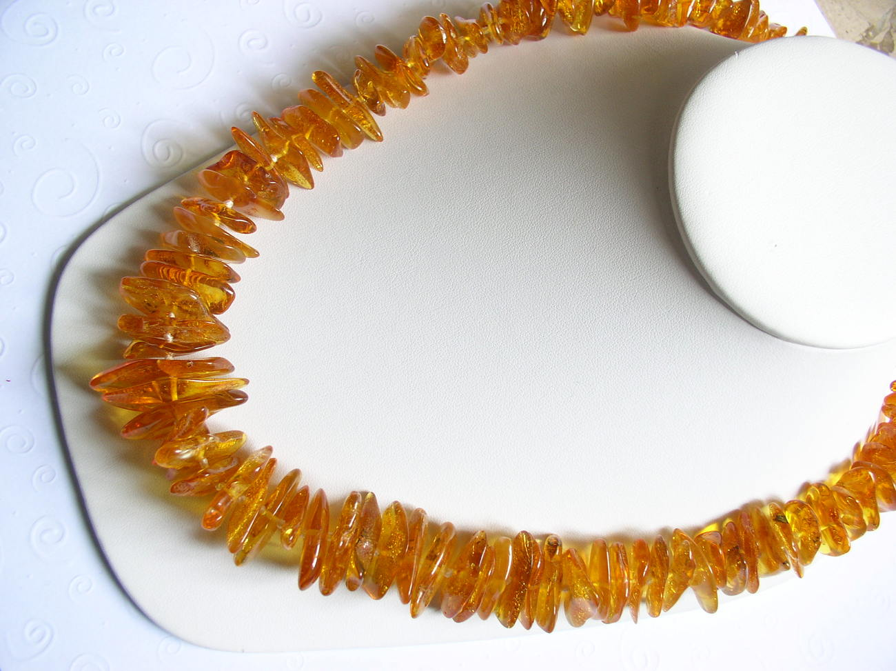 Rich Honey Baltic Amber Beaded Necklace Individually Knotted