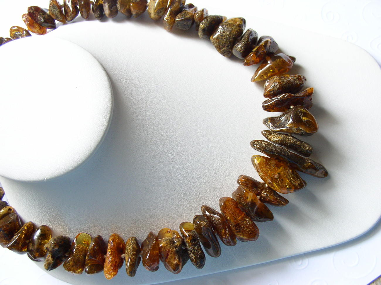 Golden Baltic Amber Huge Beads Necklace Individually Knotted