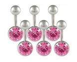 Buy Body Jewelry - LOT 14g Belly Button Navel Rings Ear Body Jewelry BMMO