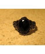 RING WOMEN'S FAUX BLACK ONYX INTRICATE DESIGN... - $9.99