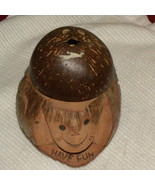 String Holder  Hand Crafted Monkey Face Coconut... - $10.00