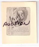 Erich von Stroheim Vintage Book Plate Silent Fi... - $39.99