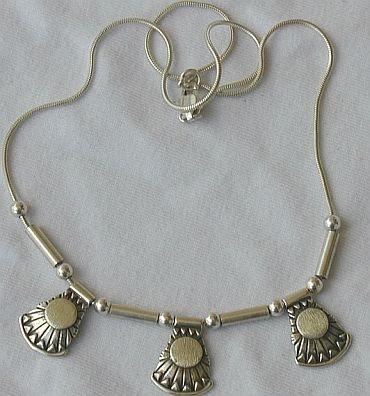 3parts silver necklace A
