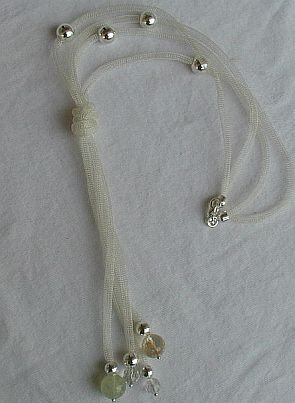 Silver strips necklace