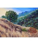 Original Oil Painting California Oak Tree Hill ... - $299.00