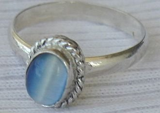 Mini light blue ring